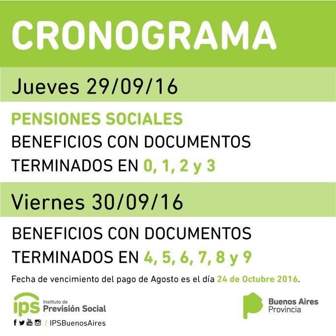 Cronograma De Pago De Ips Mes De Septiembre 2016 ...