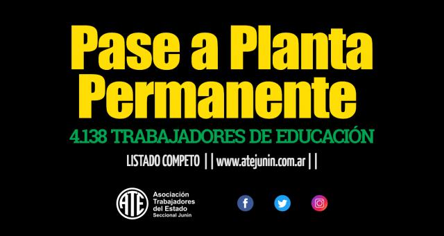 pase a planta permanente